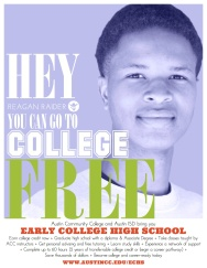 Promotional Poster Series/Early College High School/Austin ISD