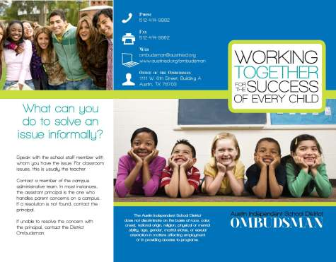 Brochure/Ombudsman Services/Austin ISD
